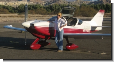 Glasair FT with owner at Death Valley, California