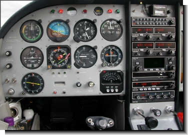 Pilot's side of Glasair instrument panel