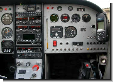 Copilot's side of Glasair instrument panel